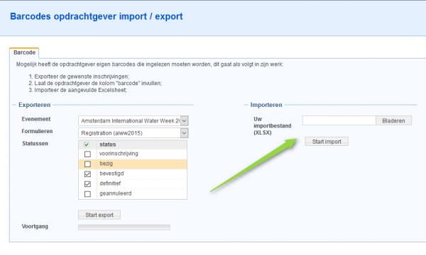 Barcode van een opdrachtgever importeren (2)