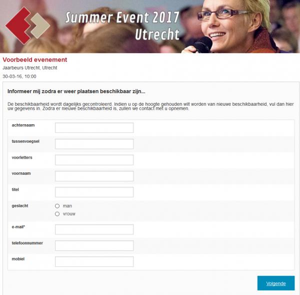 Aanmeldingsformulier voor de notificatielijst